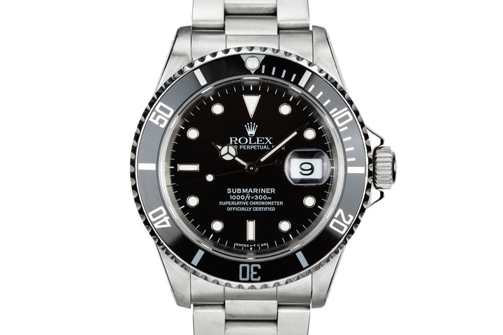 1991 Rolex Submariner 16610 with Box and Papers photo