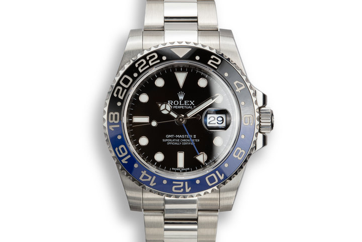 "2017 Rolex GMT-Master II 116710 BLNR ""Batman"" with Box and Papers photo"