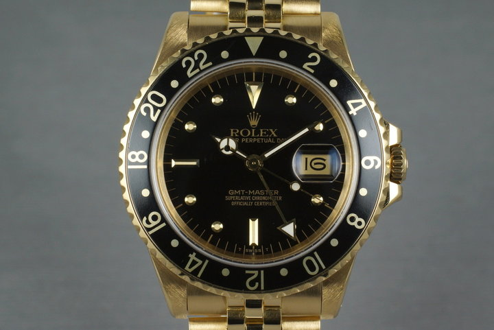 1985 Rolex YG GMT 16758 photo