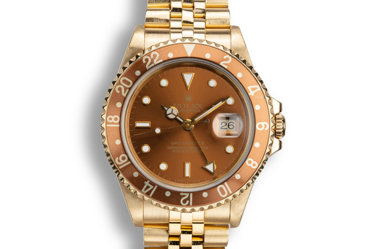 "1993 Rolex 18K YG GMT-Master II 16718 ""Rootbeer"" Dial photo, #0"