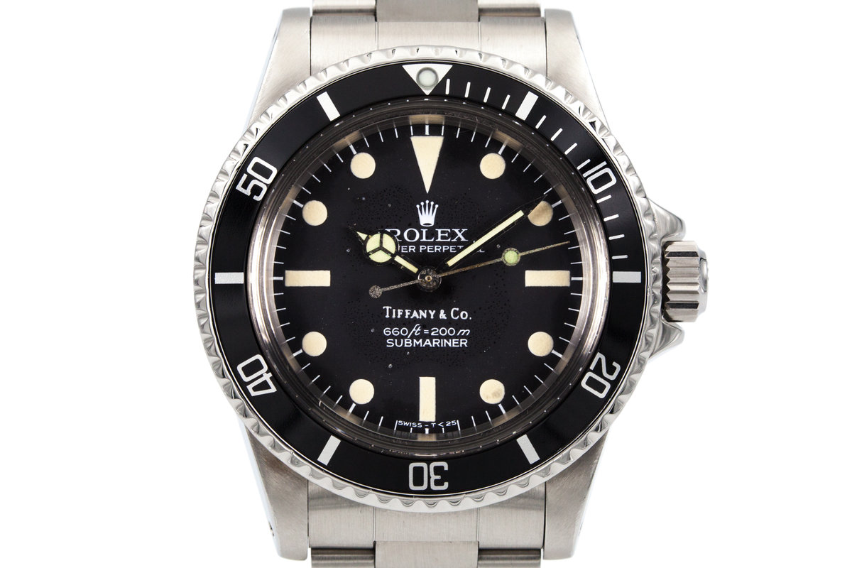 """1977 Rolex Submariner 5513  Black """"Tiffany & Co."""" Pre Comex Dial photo, #0"""