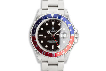 "2002 Rolex GMT-Master II 16710 ""Pepsi"" Papers & Service Card photo"