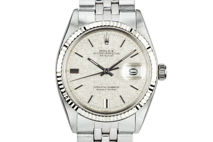 1971 Rolex DateJust 1601 Linen Dial with Box and Papers photo