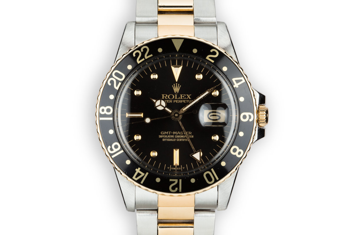 1979 Rolex Two-Tone GMT-Master 16753 Black Nipple Dial photo, #0