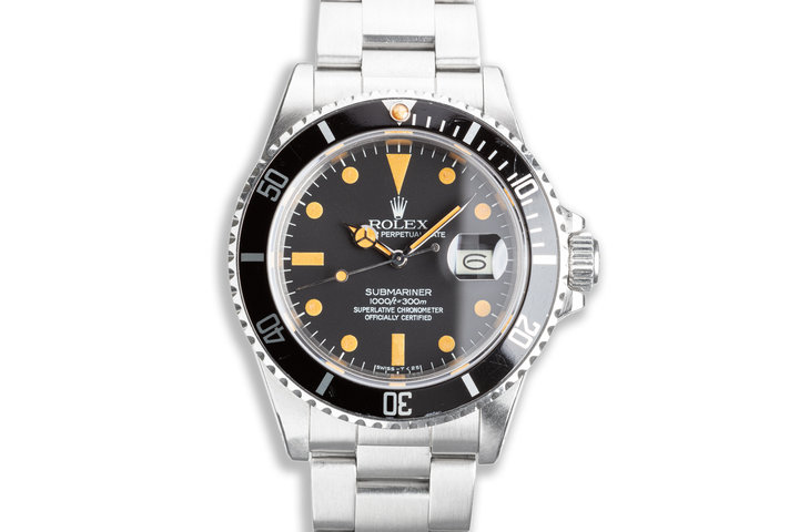 1981 Vintage Rolex Submariner 16800 Matte Dial with Box & Papers photo