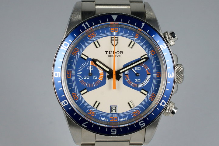 2014 Tudor Heritage Chrono 70330 with Box and Papers photo