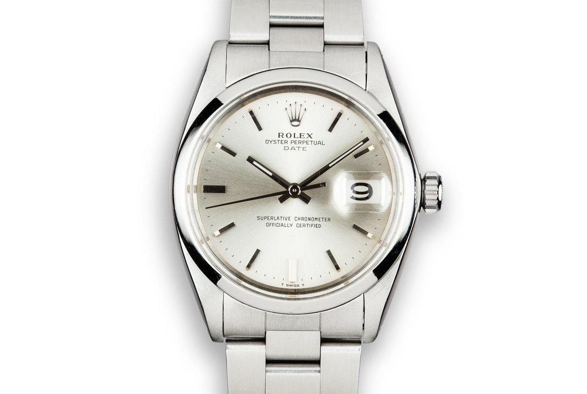 1964 Rolex Date 1500/0 Silver Dial with Service Papers photo, #0