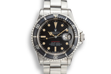 1970 Rolex Submariner 1680 with MK IV Red Dial photo