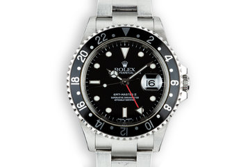 2003 Rolex GMT-Master II 16710 Black Bezel with Box and Papers photo