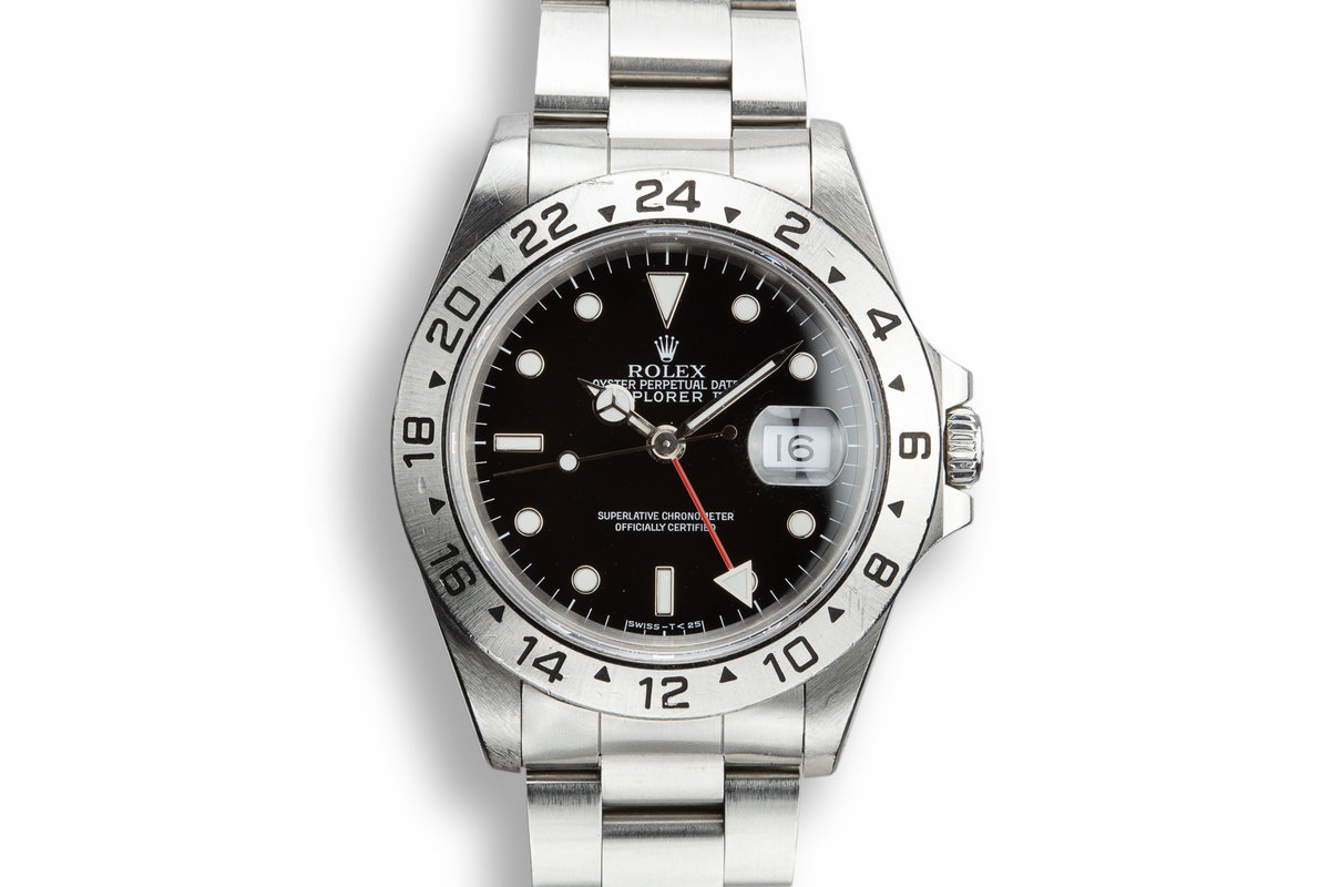 1990 Rolex Explorer II 16570 Black Dial with Box and Papers photo, #0