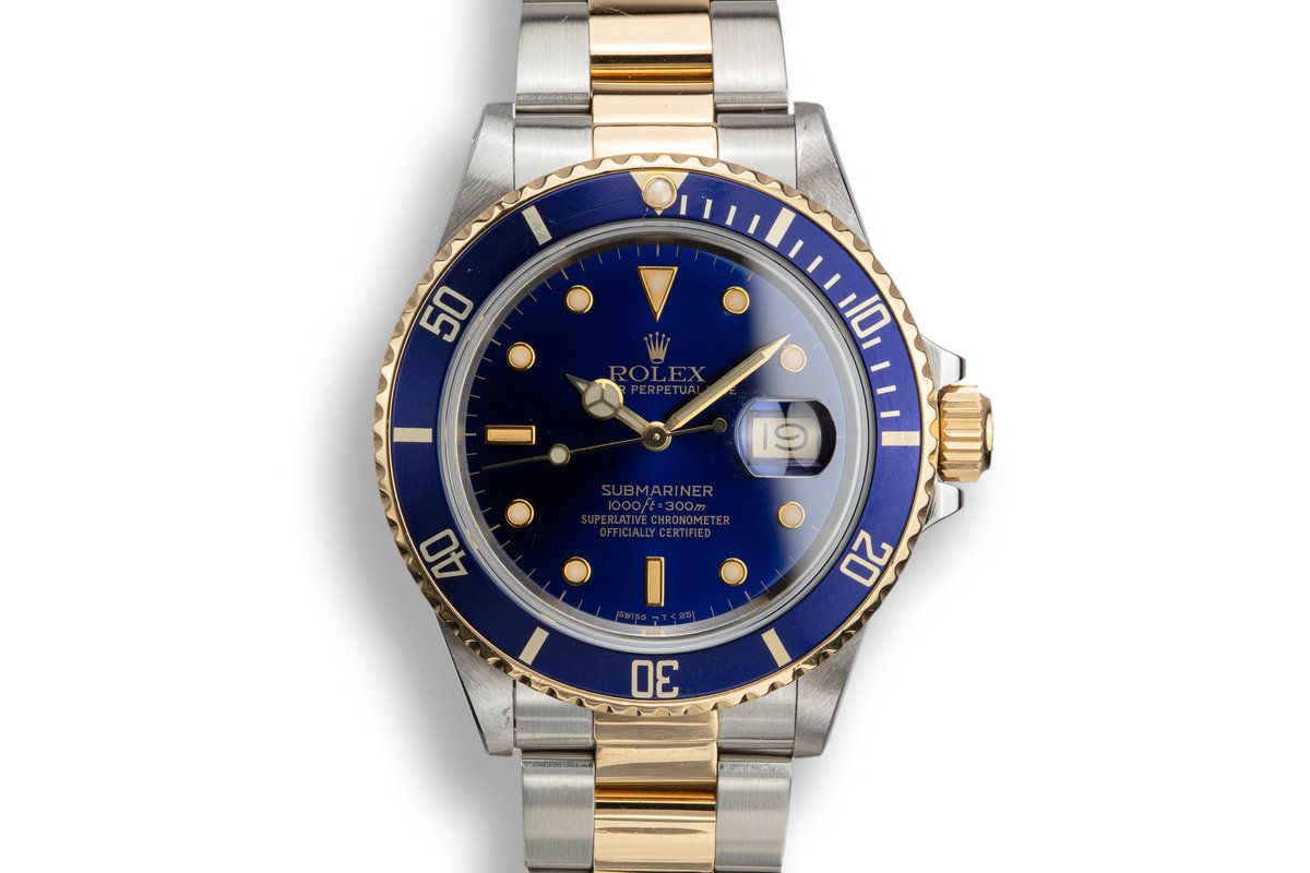 1988 Rolex Two-Tone Submariner 16803 with Service Papers photo, #0
