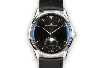 2016 Jaeger-LeCoultre Ultra Thin Moon Black Dial Q1368470 With Box and Papers photo