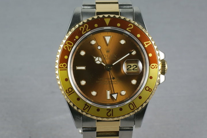 Rolex Two Tone GMT Master II 16713 Root Beer photo