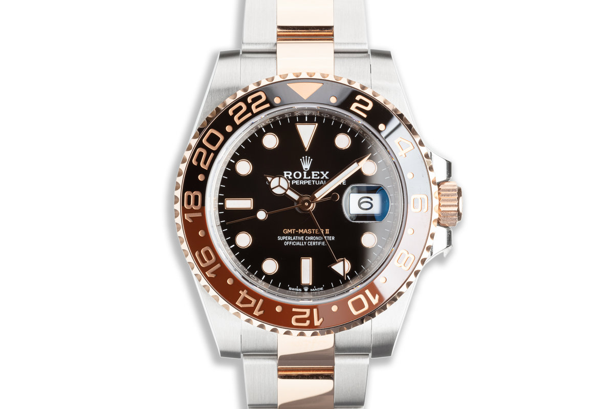"""2020 Rolex Everose GMT-Master II 126711CHNR """"Root Beer"""" with Box & Card photo, #0"""
