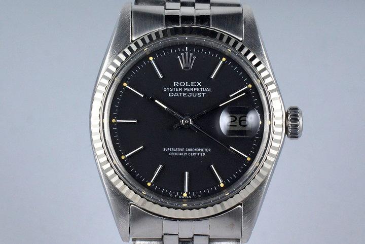 1969 Rolex DateJust 1601 Matte Black Sigma Dial photo