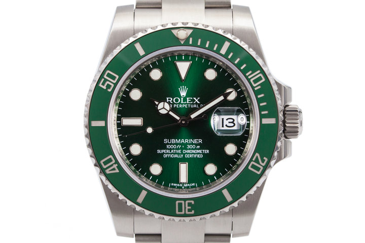 2010 Rolex Green Submariner 116610LV with Box and Papers photo