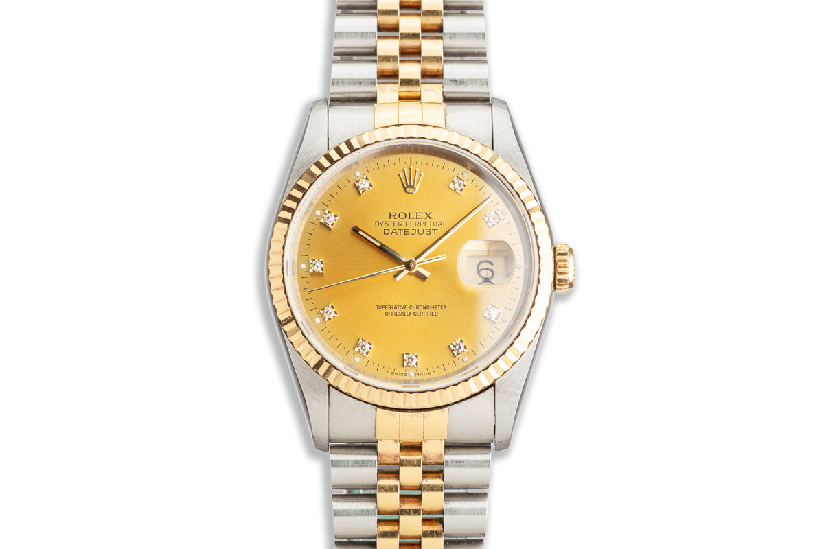 1991 Rolex Two-Tone DateJust 16233 Diamond Marker Dial photo, #0