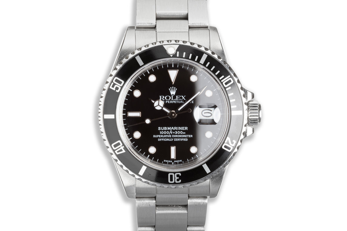 1986 Rolex Submariner 168000 with Box & Papers photo, #0