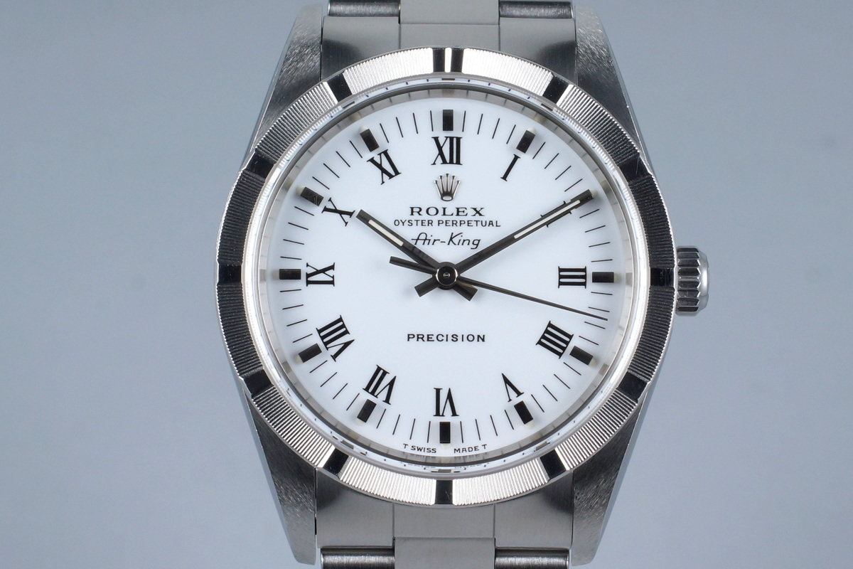 2001 Rolex Air-King 14010M White Roman Dial photo, #0