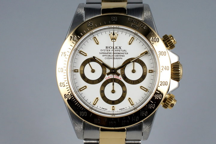 1995 Rolex Two Tone Zenith Daytona 16523 with Box and RSC Papers photo