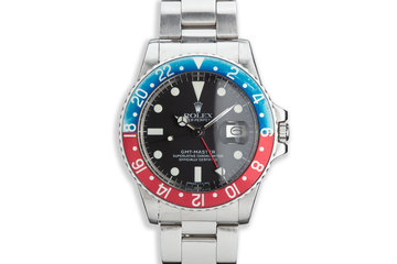 """1978 Vintage Rolex GMT-Master 1675 Matte Dial with """"Pepsi"""" Insert photo"""