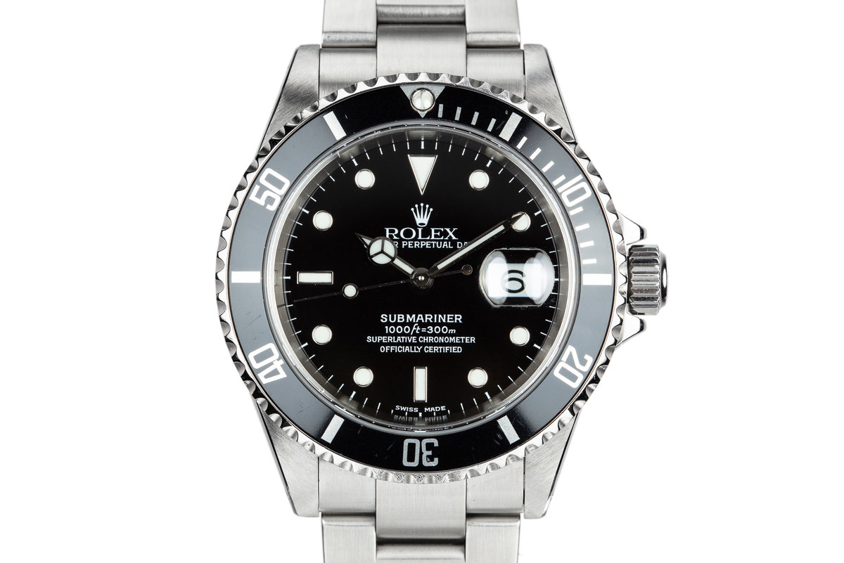 2001 Rolex Submariner 16610 with Box and Papers photo, #0