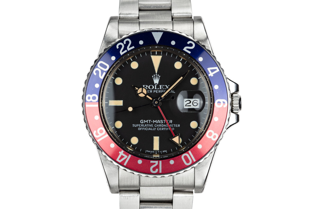 """1981 Rolex GMT-Master 16750 """"Pepsi"""" with Box and Papers photo, #0"""