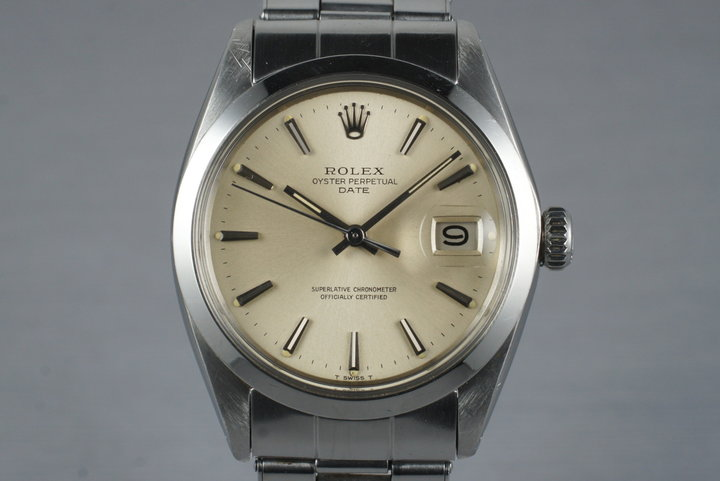 1969 Rolex Date 1500 Silver Dial with Box and Papers photo