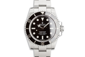2020 Rolex Submariner No-Date 114060 with Box and Card photo