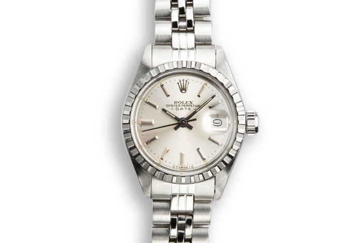 1974 Ladies DateJust 6924 Silver Sigma Dial with Service Papers photo