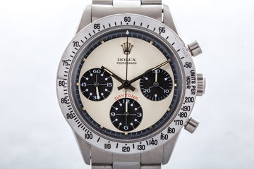 1970 Rolex Daytona 6262 with White Paul Newman Dial and Papers  photo