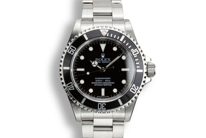 2012 Rolex Submariner 14060M with Four Line Dial photo
