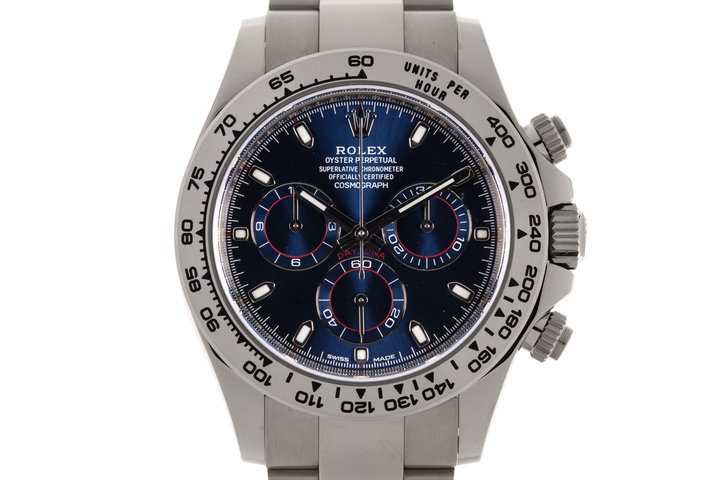 2017 Rolex WG Daytona 116509 Blue Dial with Box and Papers photo