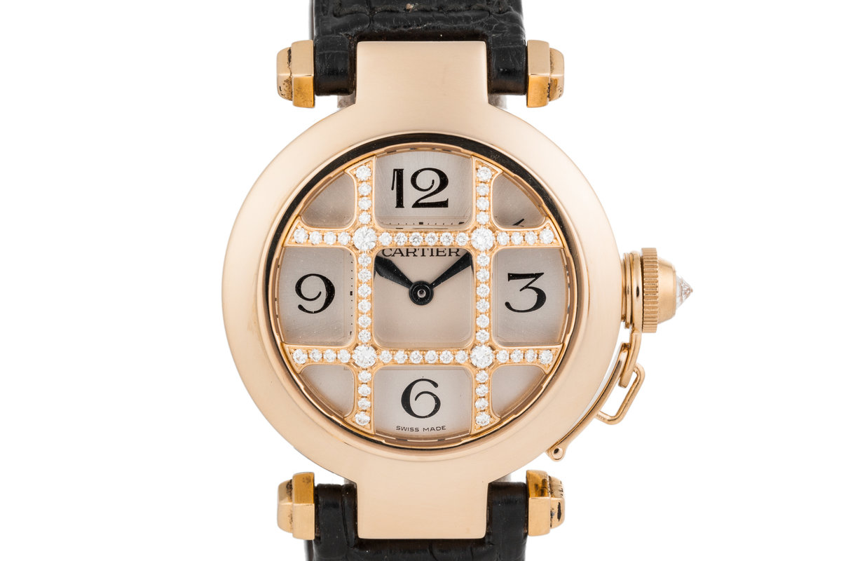 Cartier 18K Gold Pasha watch with Diamond Grid photo, #0
