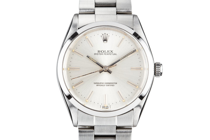 1983 Rolex Oyster Perpetual 1002 Silver Dial photo