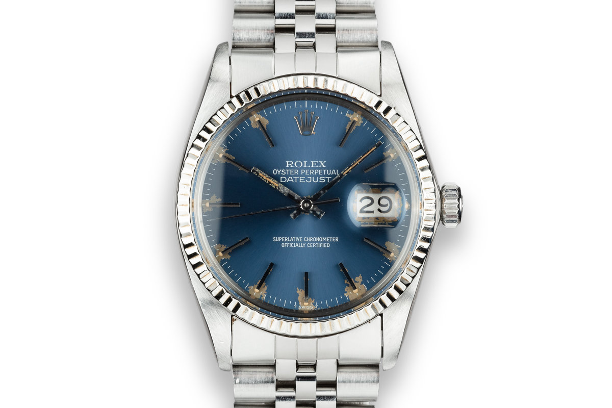 1979 Rolex DateJust 16014 Blue Dial with Box and Papers photo, #0