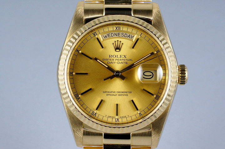 1985 Rolex YG Day Date 18038 with Papers photo