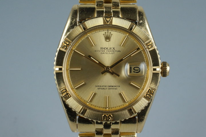 1973 Rolex YG DateJust Thunderbird 1625 photo