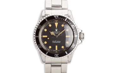 1968 Vintage Rolex Submariner 5513 Non Serif Dial photo