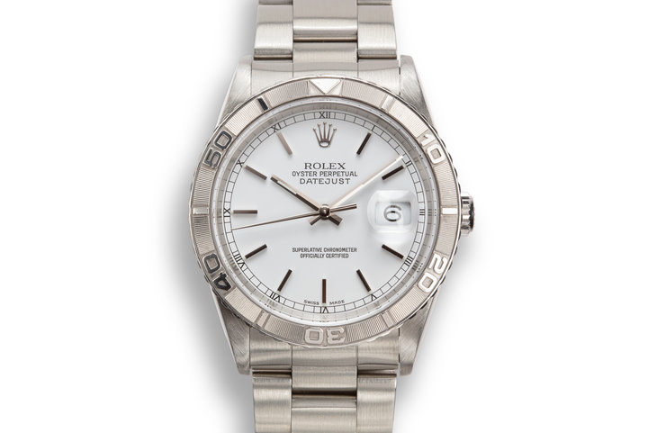 "2002 Rolex DateJust ""Thunderbird"" 16264 White Dial photo"
