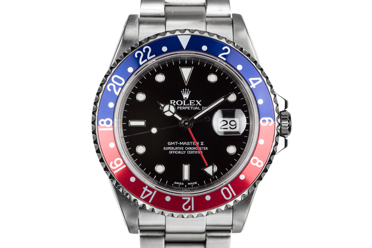 """2001 Rolex GMT-Master II 16710 """"Pepsi"""" with Box and Papers photo, #0"""