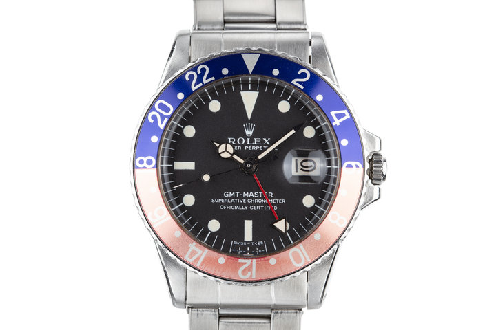 """1971 Rolex GMT-Master 1675 with Faded """"Pepsi"""" Bezel Insert photo"""