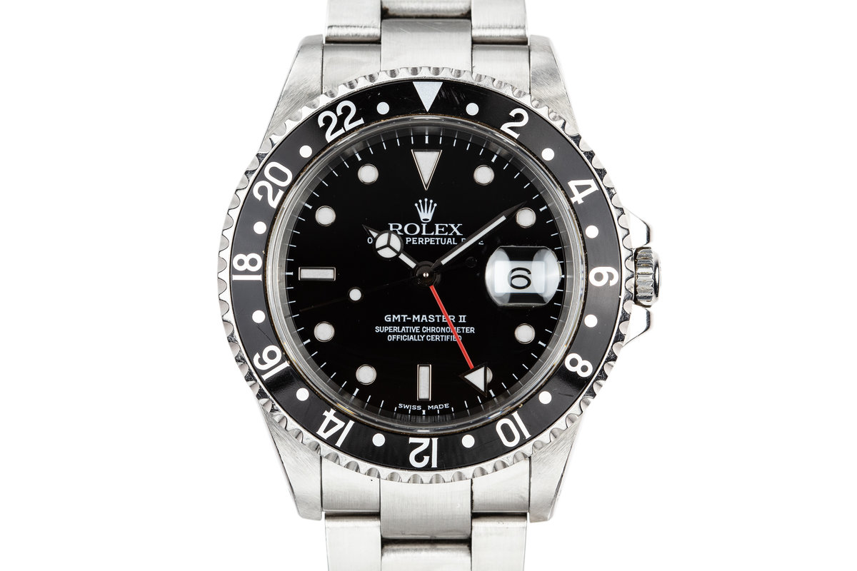 1999 Rolex GMT-Master II 16710 with Black Bezel Insert photo, #0