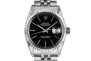 1983 Rolex DateJust 16030 black dial with Box and Papers photo