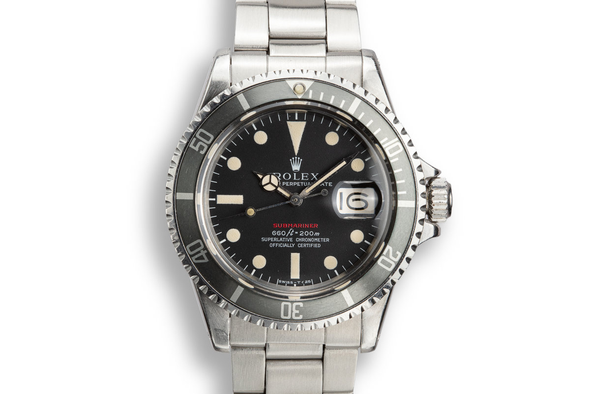 1970 Rolex Red Submariner 1680 MK IV Dial photo, #0