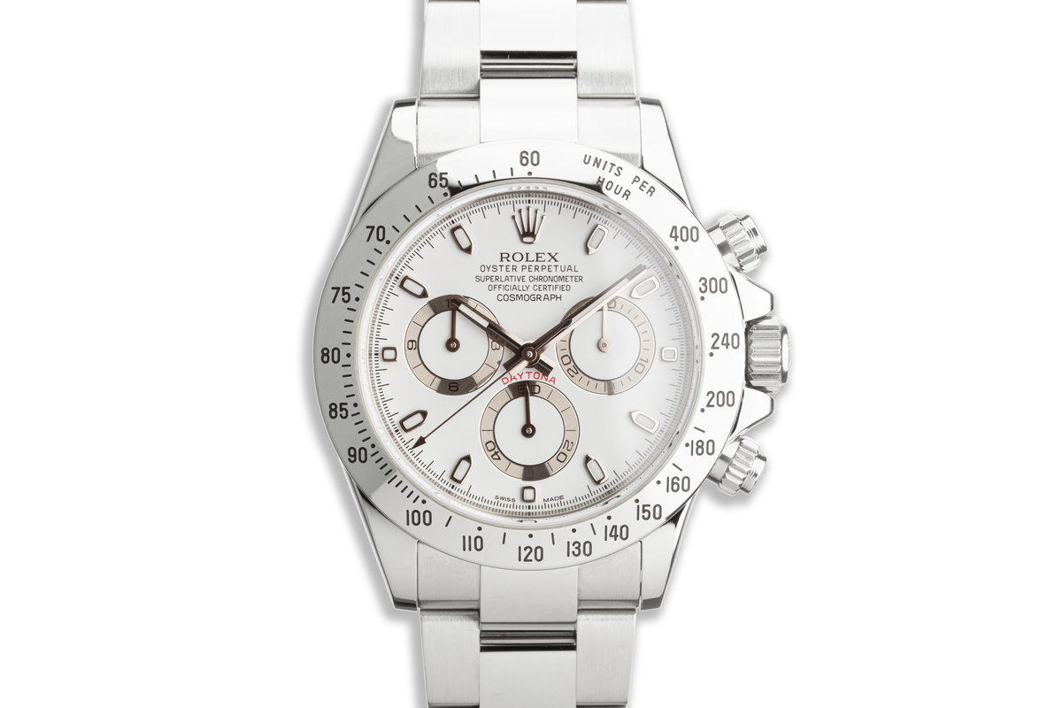 2010 Rolex Daytona 116520 White APH Dial with Box and Card photo, #0