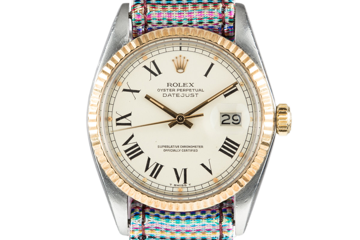 1977 Rolex Two Tone DateJust 1601 Roman Numeral Dial with Papers photo, #0