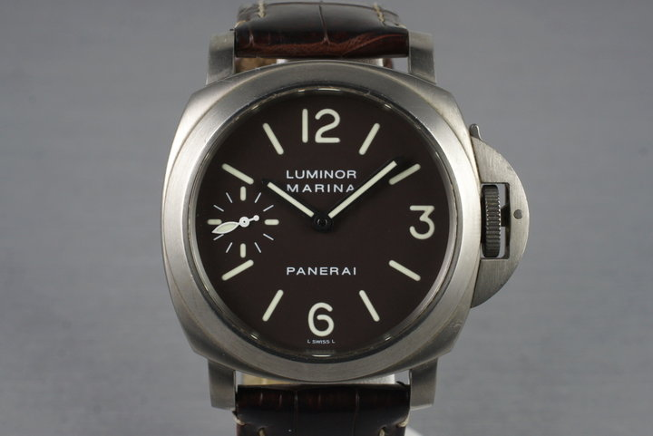 2007 Panerai PAM 118 Marina Titanium with Box and Papers photo