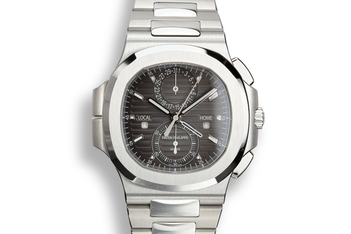 2018 Patek Philippe Nautilus Travel Time Chronograph 5990/1A-001 Grey Dial with Box and Papers photo, #0