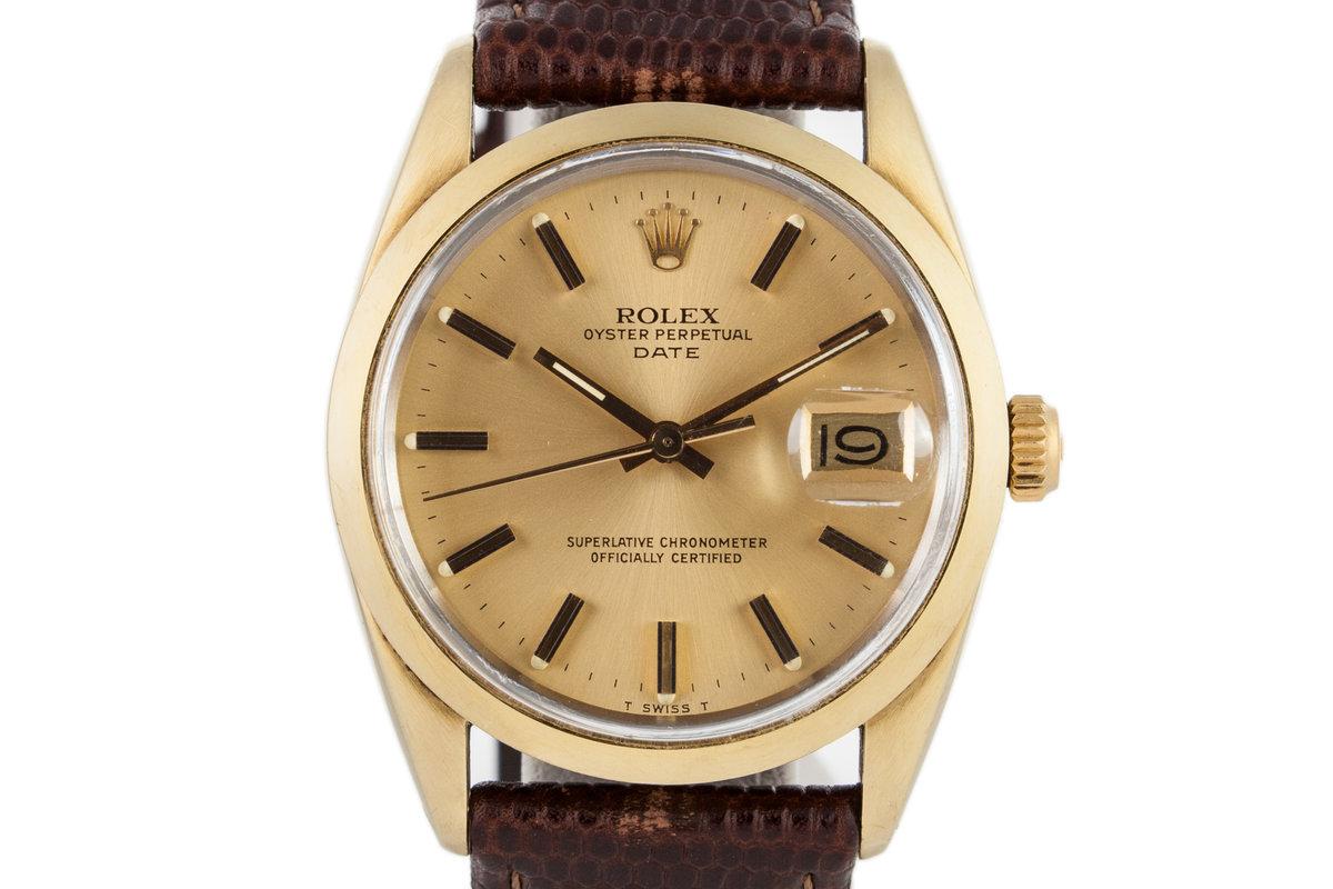 1979 Rolex Date 1550 Gold Shell photo, #0